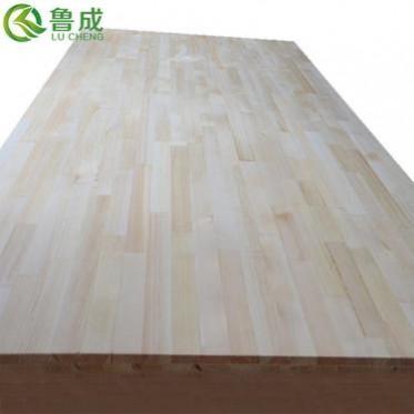 大量销售樟子松15mm实木集成材家具双面无节插接板 定做免漆UV板