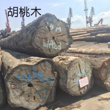 进口巴新胡桃木原木 优质胡桃木板材 张家港人面子原木直销