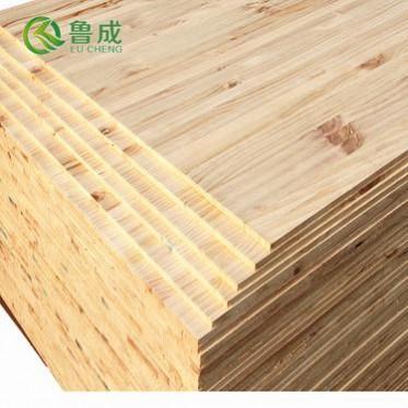 厂家大量供应优质辐射松双面有节直拼松木实木板定做免漆UV板17mm