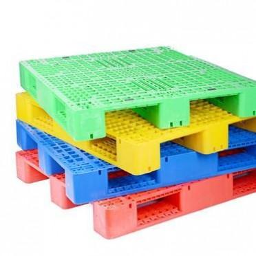 虹森 塑料托盘 网格九脚型回料 胶板 实力厂家工厂直销注塑卡板