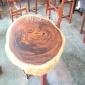 厂家直销乌金木圆桌餐桌 整块原木巴花茶台客厅胡桃木茶桌现货